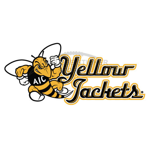 Customs AIC Yellow Jackets 2009-Pres Alternate Logo Iron-on Transfers (Wall Stickers) N3686