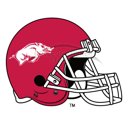 Customs Arkansas Razorbacks 2001 Pres Helmet Iron-on Transfers (Wall Stickers)NO.3745