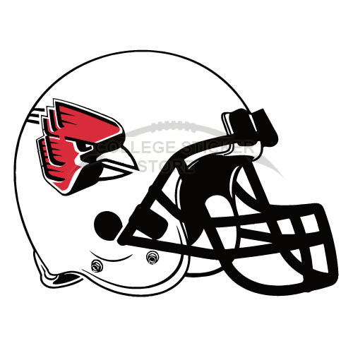 Customs Ball State Cardinals 1990 Pres Helmet Iron-on Transfers (Wall Stickers)NO.3767