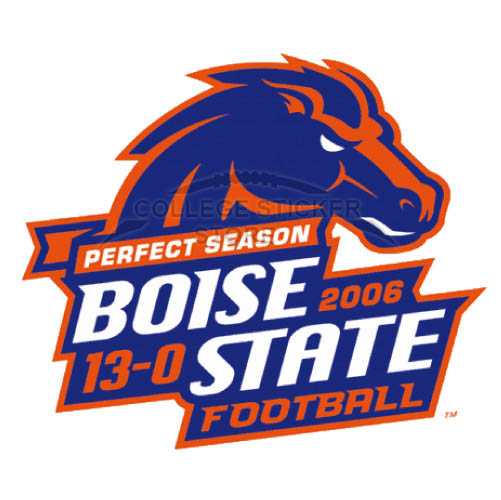 Customs Boise State Broncos Iron-on Transfers (Wall Stickers)NO.4012