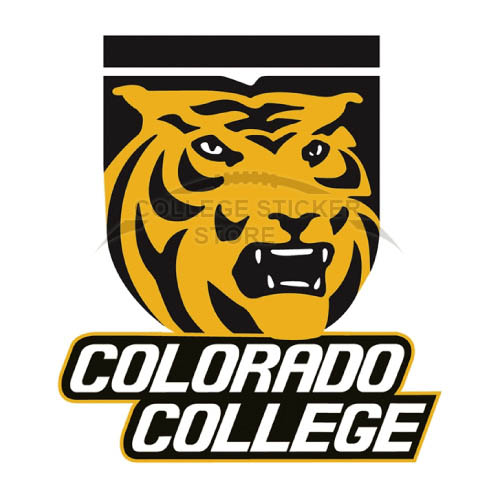 Customs Colorado College Tigers Iron-on Transfers (Wall Stickers)NO.4173