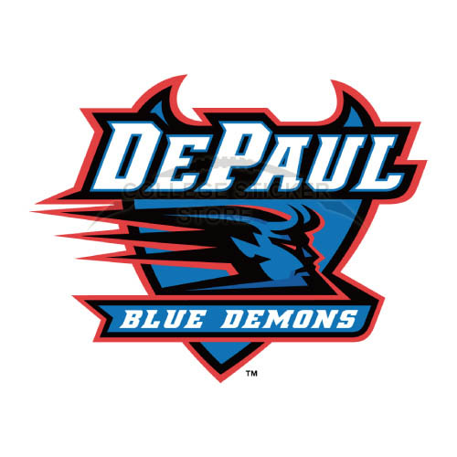 Customs DePaul Blue Demons Iron-on Transfers (Wall Stickers)NO.4259