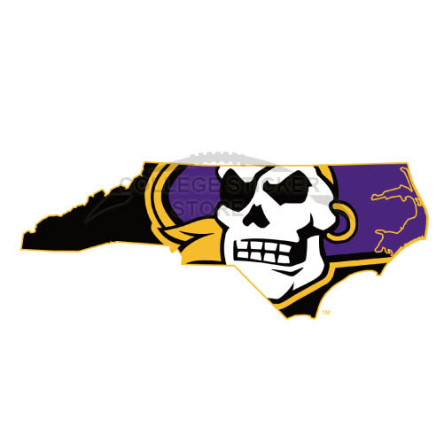 Design East Carolina Pirates Iron-on Transfers (Wall Stickers)NO.4304