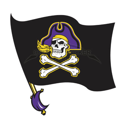 Design East Carolina Pirates Iron-on Transfers (Wall Stickers)NO.4307