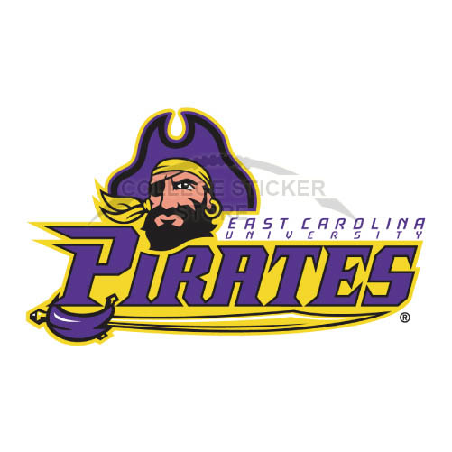 Design East Carolina Pirates Iron-on Transfers (Wall Stickers)NO.4312