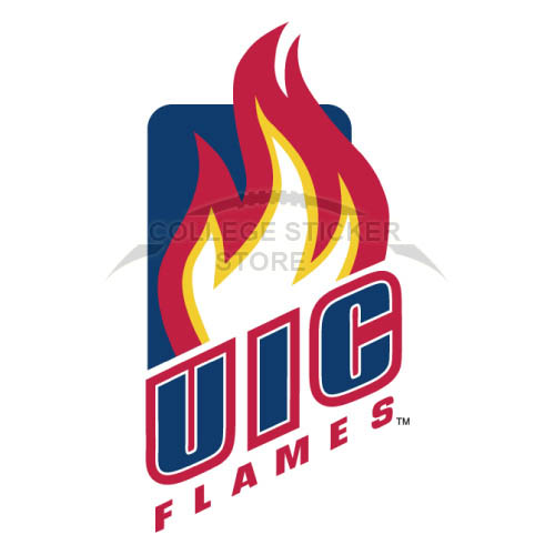 Design Illinois Chicago Flames Iron-on Transfers (Wall Stickers)NO.4601