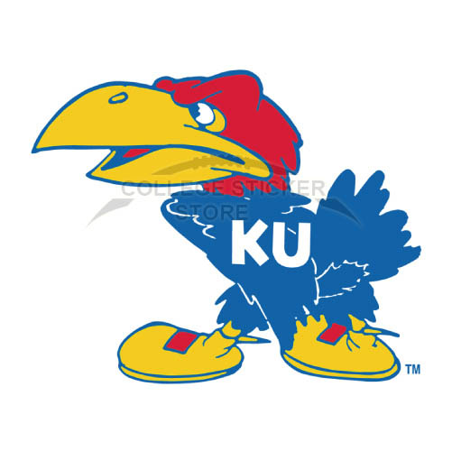 Design Kansas Jayhawks Iron-on Transfers (Wall Stickers)NO.4701
