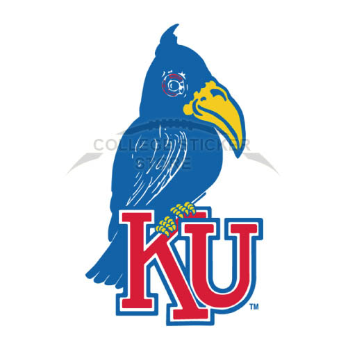 Design Kansas Jayhawks Iron-on Transfers (Wall Stickers)NO.4702