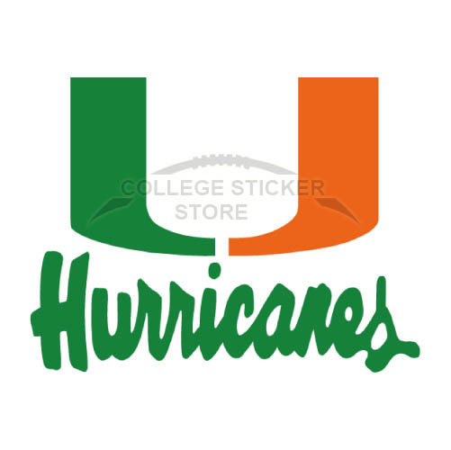 Personal Miami Hurricanes Iron-on Transfers (Wall Stickers)NO.5038