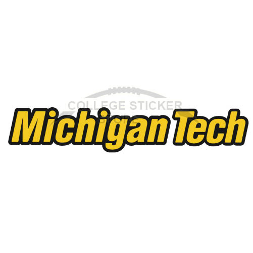 Personal Michigan Tech Huskies Iron-on Transfers (Wall Stickers)NO.5061