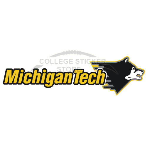 Personal Michigan Tech Huskies Iron-on Transfers (Wall Stickers)NO.5062