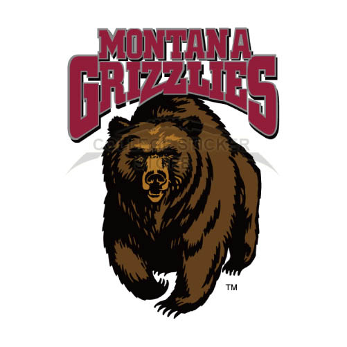 Personal Montana Grizzlies Iron-on Transfers (Wall Stickers)NO.5174