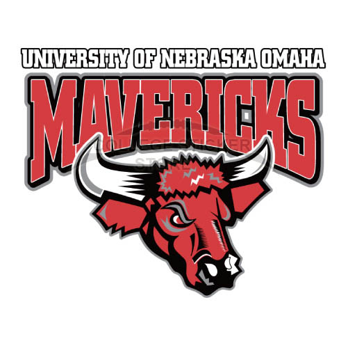 Personal Nebraska Omaha Mavericks Iron-on Transfers (Wall Stickers)NO.5388