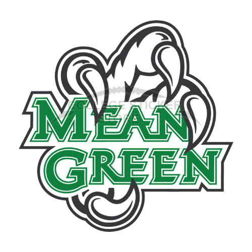 Personal North Texas Mean Green Iron-on Transfers (Wall Stickers)NO.5612
