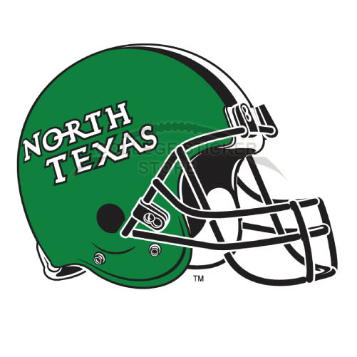 Personal North Texas Mean Green Iron-on Transfers (Wall Stickers)NO.5629