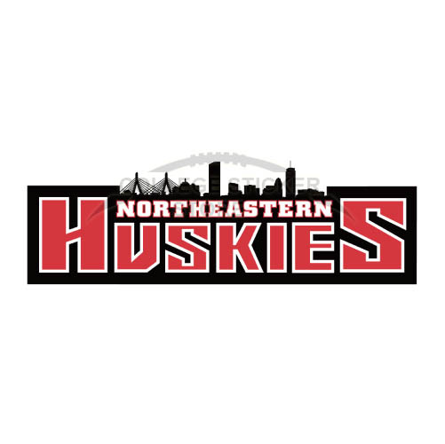Personal Northeastern Huskies Iron-on Transfers (Wall Stickers)NO.5634