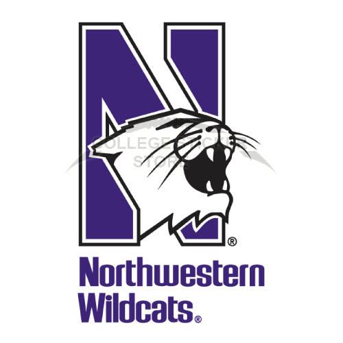 Personal Northwestern Wildcats Iron-on Transfers (Wall Stickers)NO.5700