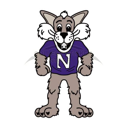 Personal Northwestern Wildcats Iron-on Transfers (Wall Stickers)NO.5701