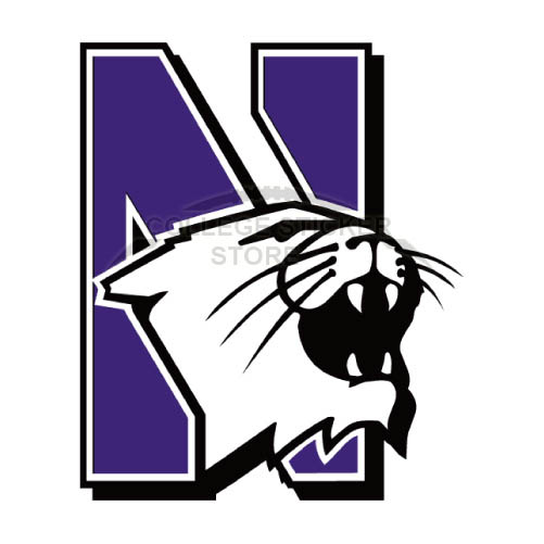 Personal Northwestern Wildcats Iron-on Transfers (Wall Stickers)NO.5708