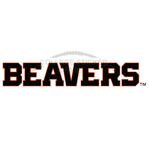 Personal Oregon State Beavers Iron-on Transfers (Wall Stickers)NO.5808