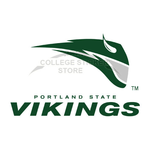Homemade Portland State Vikings Iron-on Transfers (Wall Stickers)NO.5914