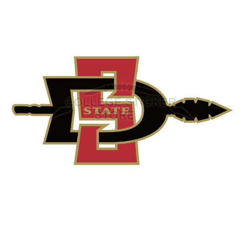 Homemade San Diego State Aztecs Iron-on Transfers (Wall Stickers)NO.6097