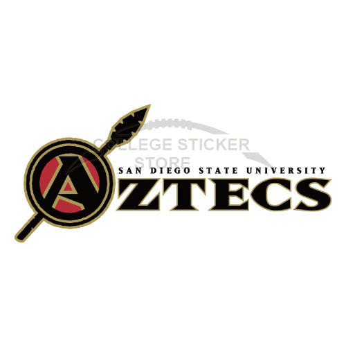 Homemade San Diego State Aztecs Iron-on Transfers (Wall Stickers)NO.6104