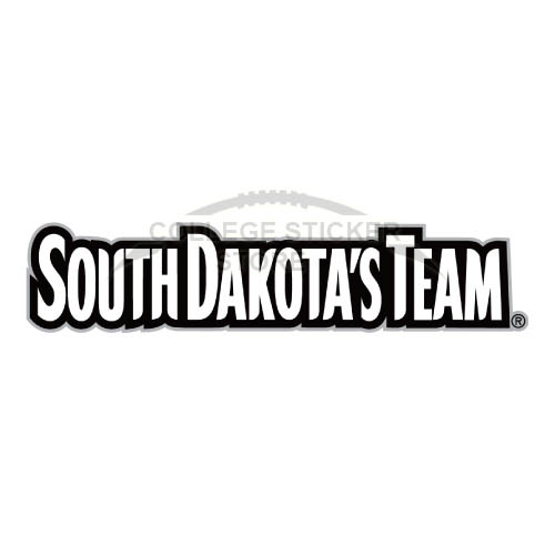 Homemade South Dakota Coyotes Iron-on Transfers (Wall Stickers)NO.6210