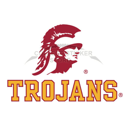 Homemade Southern California Trojans Iron-on Transfers (Wall Stickers)NO.6260