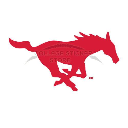Homemade Southern Methodist Mustangs Iron-on Transfers (Wall Stickers)NO.6301
