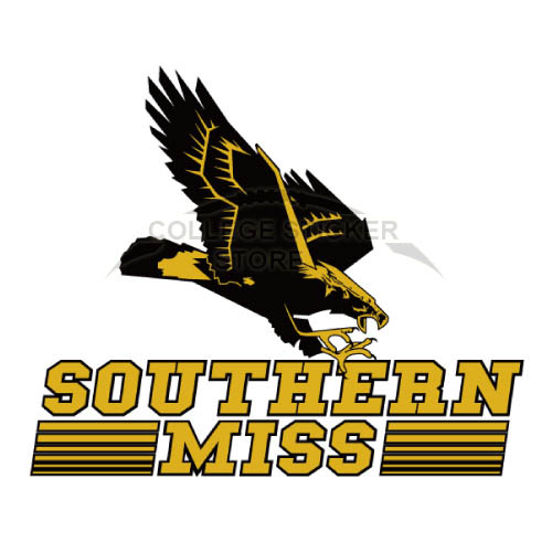 Homemade Southern Miss Golden Eagles Iron-on Transfers (Wall Stickers)NO.6310