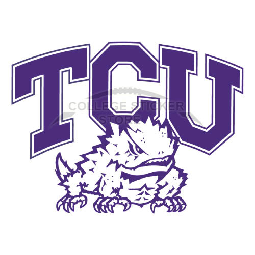 Homemade TCU Horned Frogs Iron-on Transfers (Wall Stickers)NO.6430