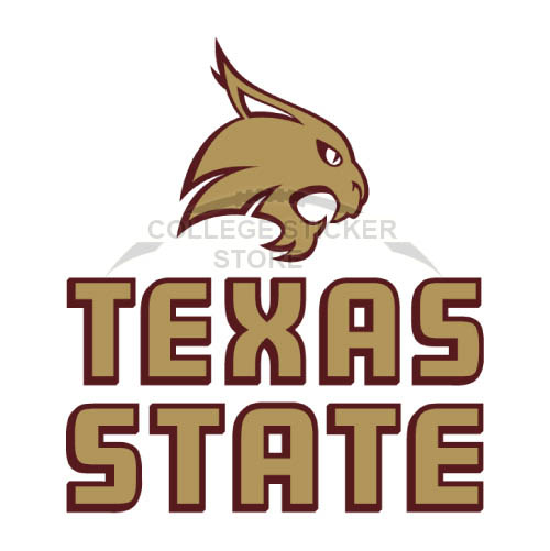 Diy Texas State Bobcats Iron-on Transfers (Wall Stickers)NO.6551