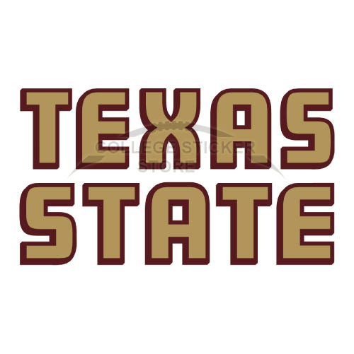 Diy Texas State Bobcats Iron-on Transfers (Wall Stickers)NO.6553