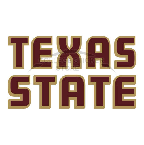 Diy Texas State Bobcats Iron-on Transfers (Wall Stickers)NO.6554