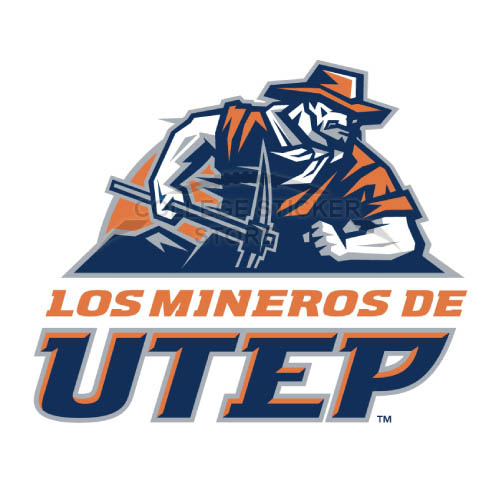 Diy UTEP Miners Iron-on Transfers (Wall Stickers)NO.6767