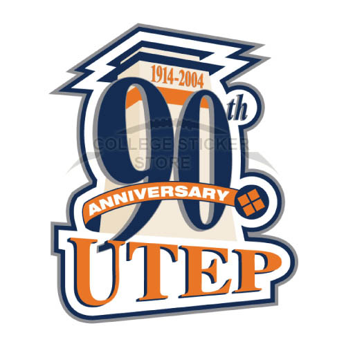 Diy UTEP Miners Iron-on Transfers (Wall Stickers)NO.6777