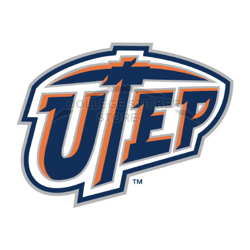 Diy UTEP Miners Iron-on Transfers (Wall Stickers)NO.6779