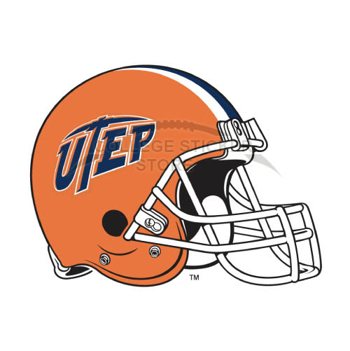 Diy UTEP Miners Iron-on Transfers (Wall Stickers)NO.6780