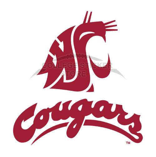 Diy Washington State Cougars Iron-on Transfers (Wall Stickers)NO.6905