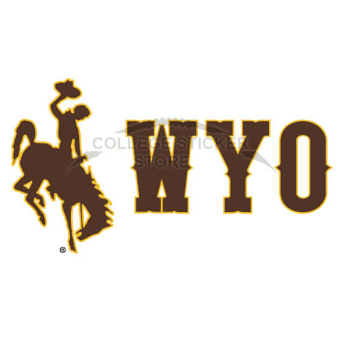 Diy Wyoming Cowboys Iron-on Transfers (Wall Stickers)NO.7069