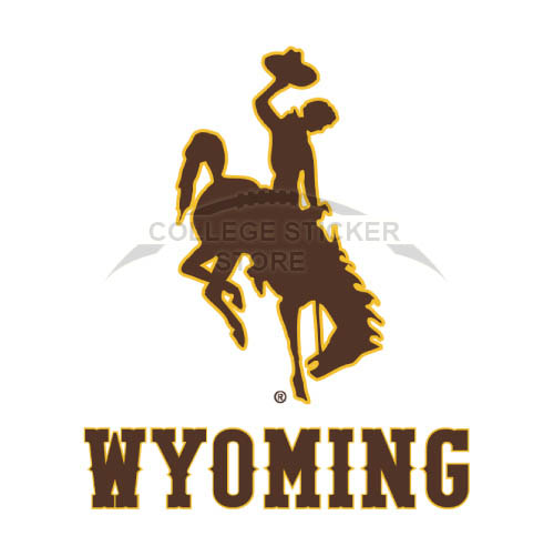 Diy Wyoming Cowboys Iron-on Transfers (Wall Stickers)NO.7074