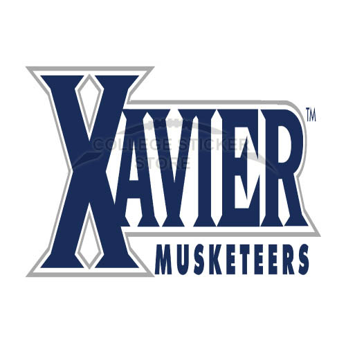 xavier musketeers stickers : design college ncaa sports iron ons and